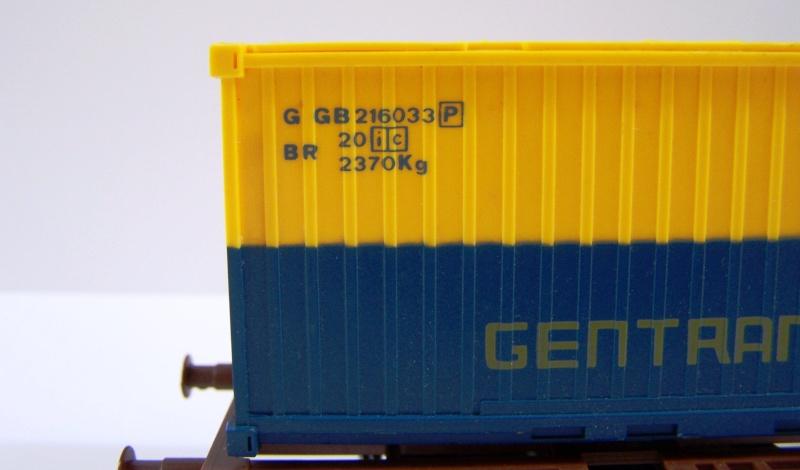 Les wagons plats porte-container de 20 pieds de Lima. Detail10