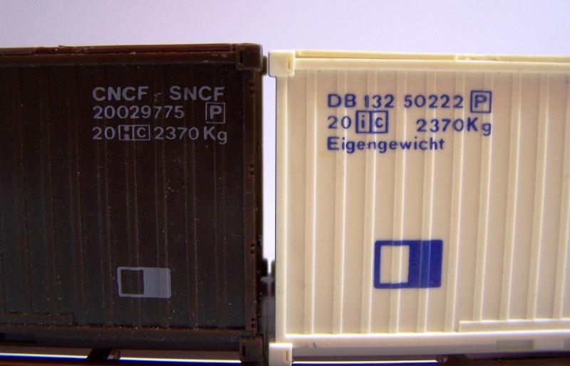 Les wagons plats porte-container de 20 pieds de Lima. Detail11