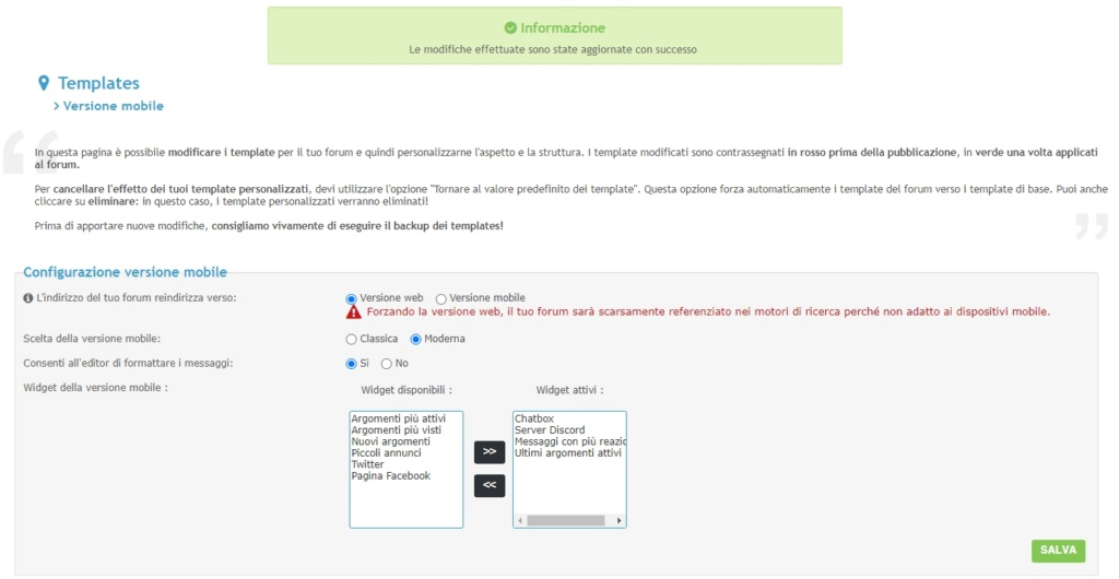 AwesomeBB e la forzatura alla versione web 2021-097