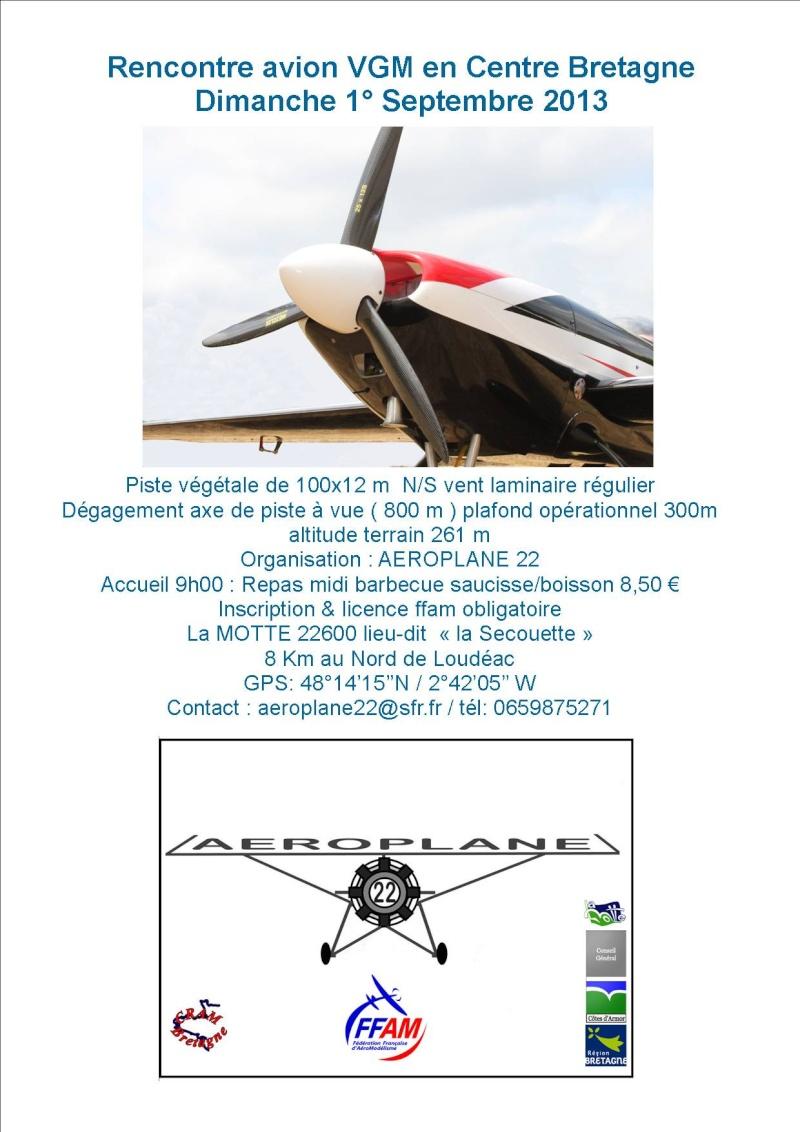 Rencontre avion VGM aéroplane 22 en Centre Bretagne. Affich10