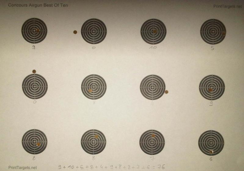 Grand Concours été 2013  Carabine 10m  sur cible C.C. 100 points  Neb10