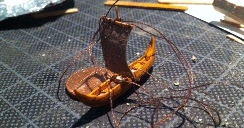 Wikingerboot (Spielzeug) für Skuldelev 3 Maßstab 1:20:20 = 1:400 Img_3020