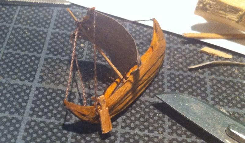 Wikingerboot (Spielzeug) für Skuldelev 3 Maßstab 1:20:20 = 1:400 Img_3110