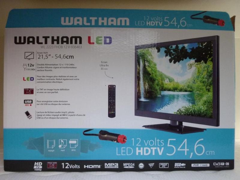 """TV LED  21.5 """" / 55 cm pas cher dans l'emplacement d'origine , ça PASSE !!!!! Tv110"""