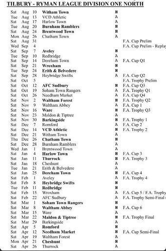 League Fixtures 46c7fd10