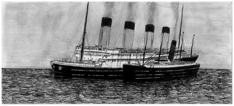 Serie de Dessins sur le TITANIC & ses Sister Ships Plan1010