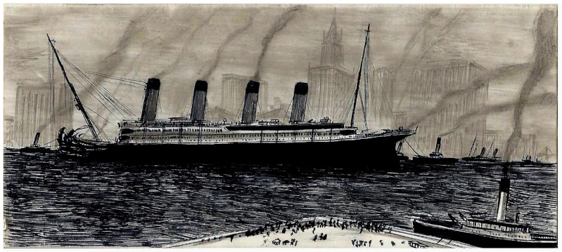 Serie de Dessins sur le TITANIC & ses Sister Ships Plan1310