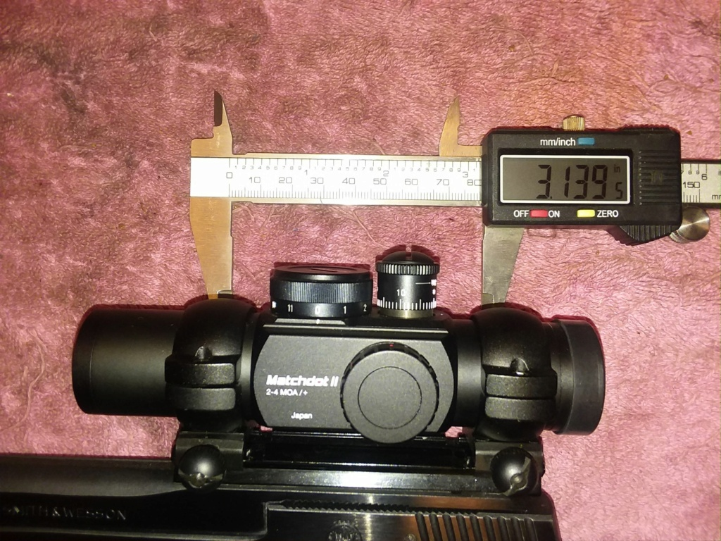 Lowest and lightest mounts for 30mm Matchdot II, mounted to Model 41 20180515