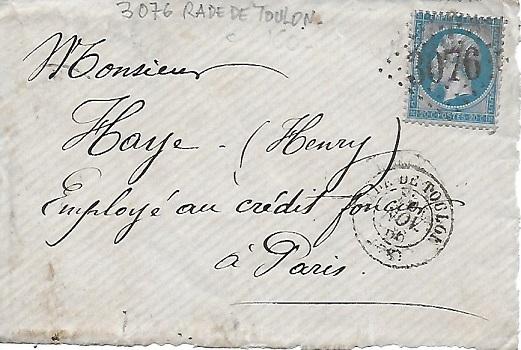 Cachets et Marques manuscrites de La Rade de Toulon 1771/1875 307610