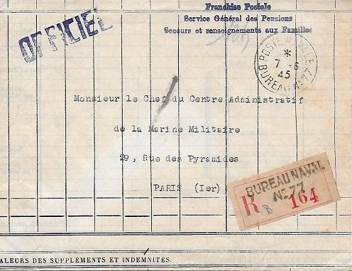 N°77 - Bureau Naval de Cherbourg 7710