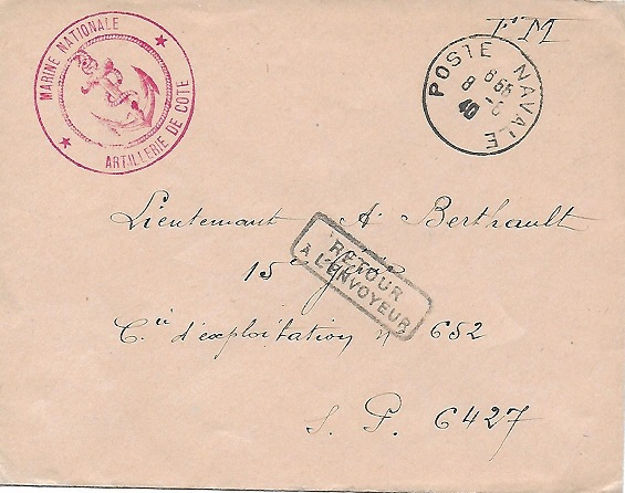 Les Cachets Anonymes de 1940. Poste12