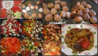 Boulettes de viandes aux légumes printanier 23621610