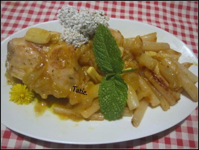 Lapin sauce safran. Img_7111