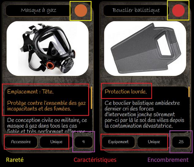 Les Possessions et l'Inventaire Items111