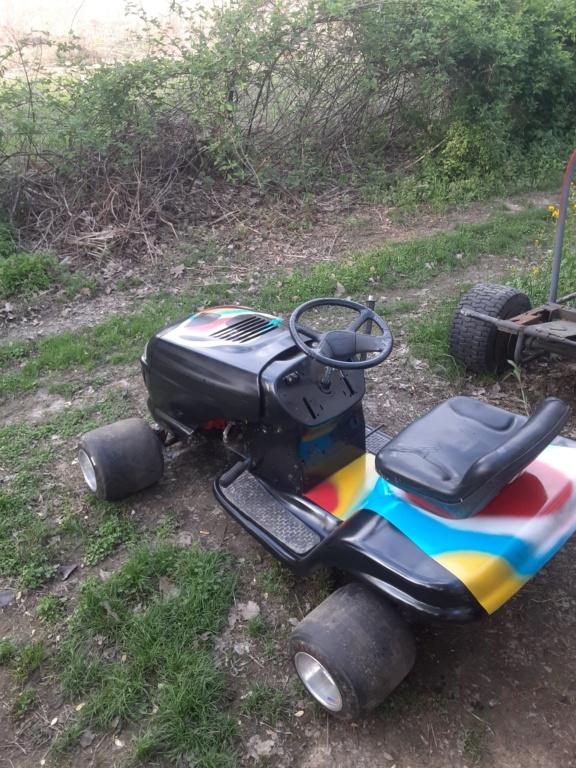 1984 Honda ATC 200 powered race mower 20200412