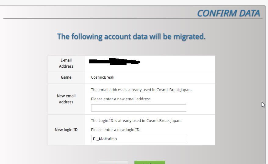 Received Email confirmation of account transfer but its still not letting me log in A10