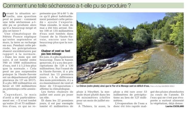 Sécheresse : la Haute-Savoie en niveau alerte Captur10