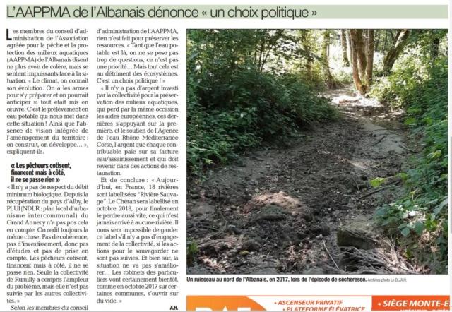 Sécheresse : la Haute-Savoie en niveau alerte Captur13