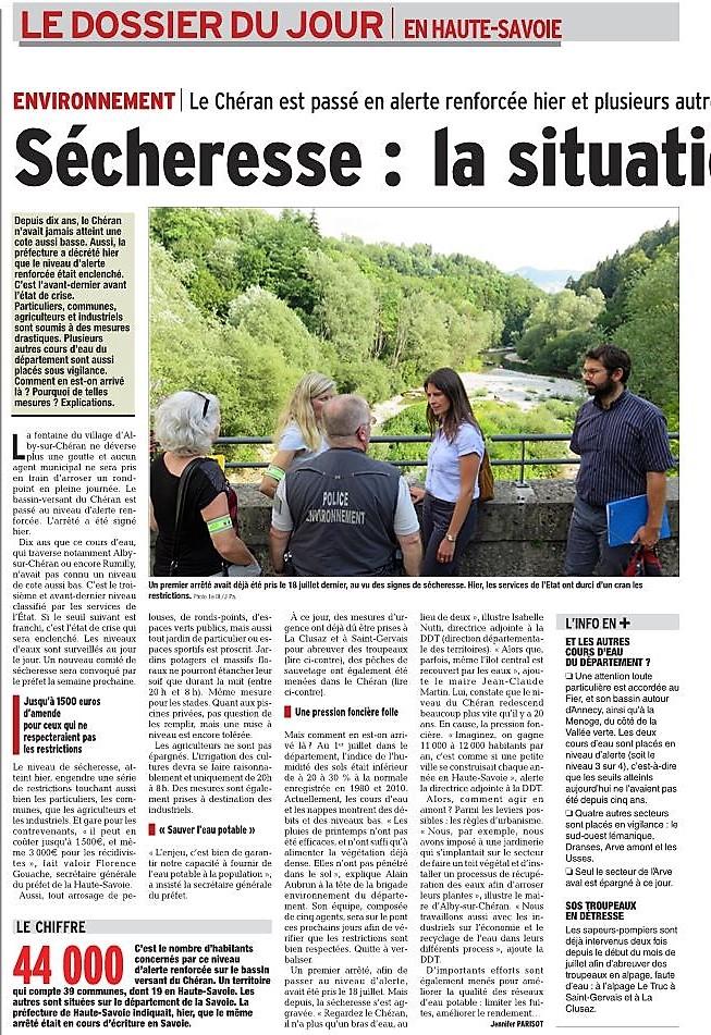 Sécheresse : la Haute-Savoie en niveau alerte Captur14