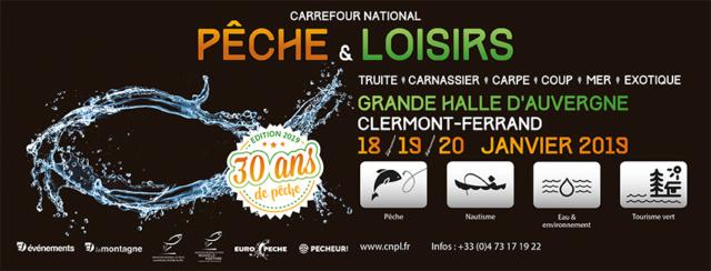 Salon de la pêche de Clermont-Ferrand 2019 ... Le rdv Cnpl2010