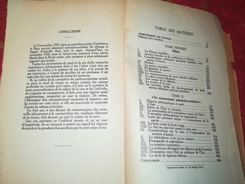 Mein kampf edition latine 1934 réservé aux collaborateurs 13352510
