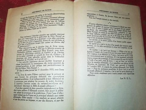 Mein kampf edition latine 1934 réservé aux collaborateurs 13360510