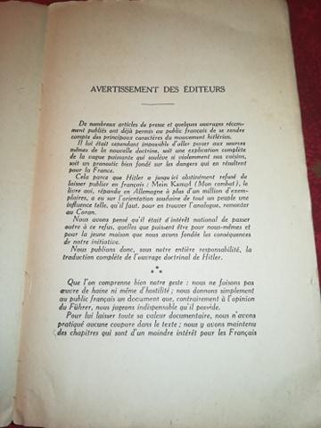 Mein kampf edition latine 1934 réservé aux collaborateurs 13387410