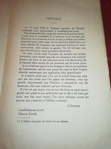 Mein kampf edition latine 1934 réservé aux collaborateurs 13390810