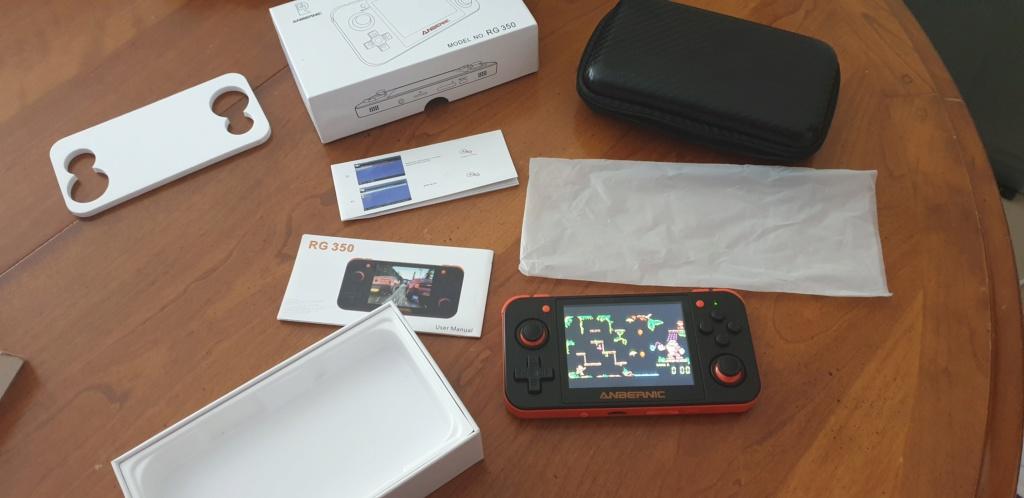 [VENDUE] RG350 Neuve Noire orange dernier firmware SD 16go + 32Go 20200411
