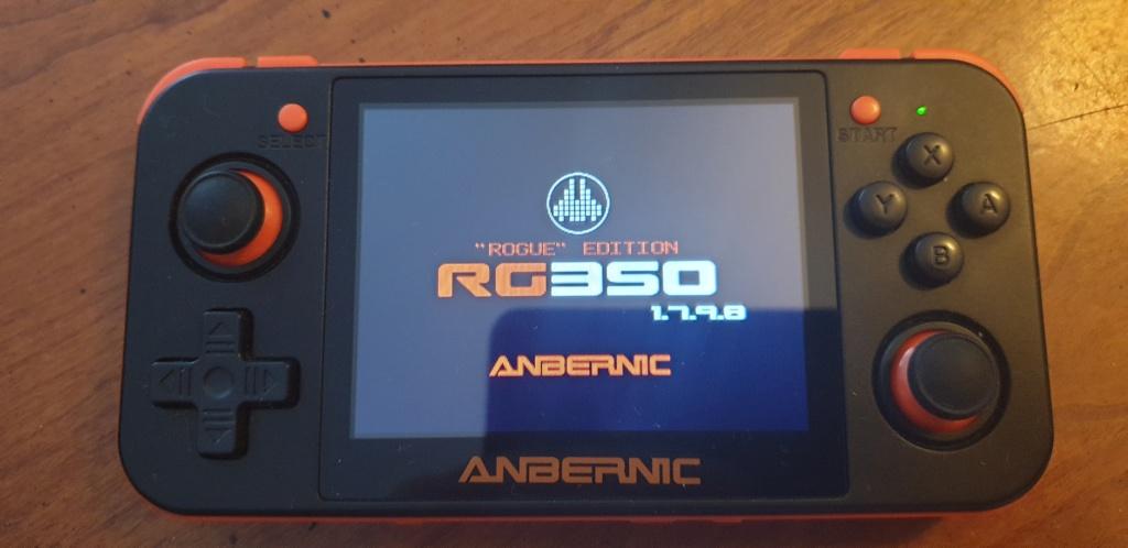 [VENDUE] RG350 Neuve Noire orange dernier firmware SD 16go + 32Go 20200412