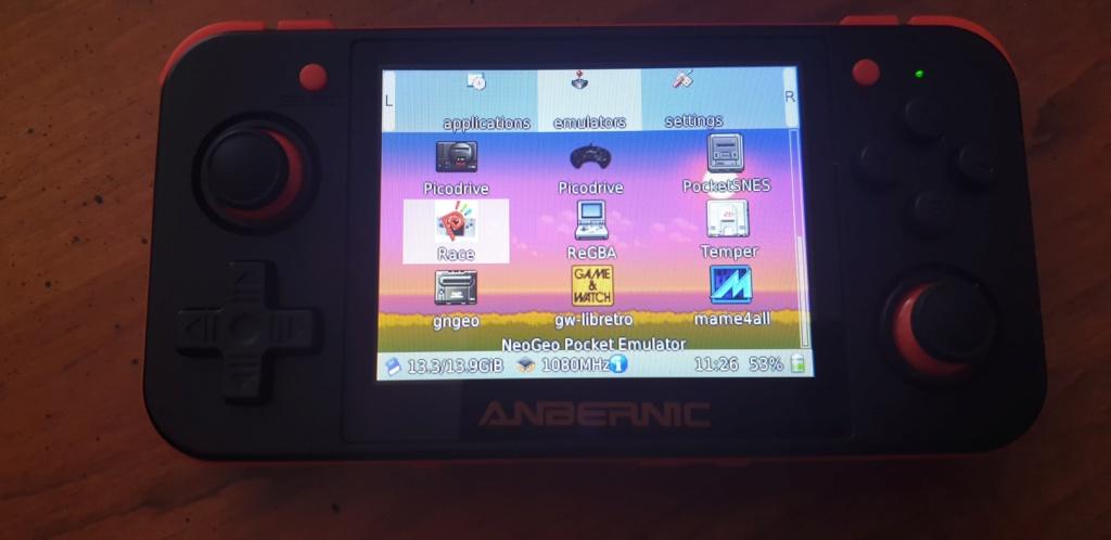 [VENDUE] RG350 Neuve Noire orange dernier firmware SD 16go + 32Go 20200414