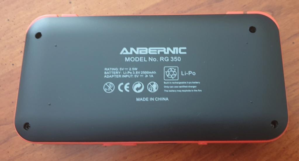 [VENDUE] RG350 Neuve Noire orange dernier firmware SD 16go + 32Go 20200416