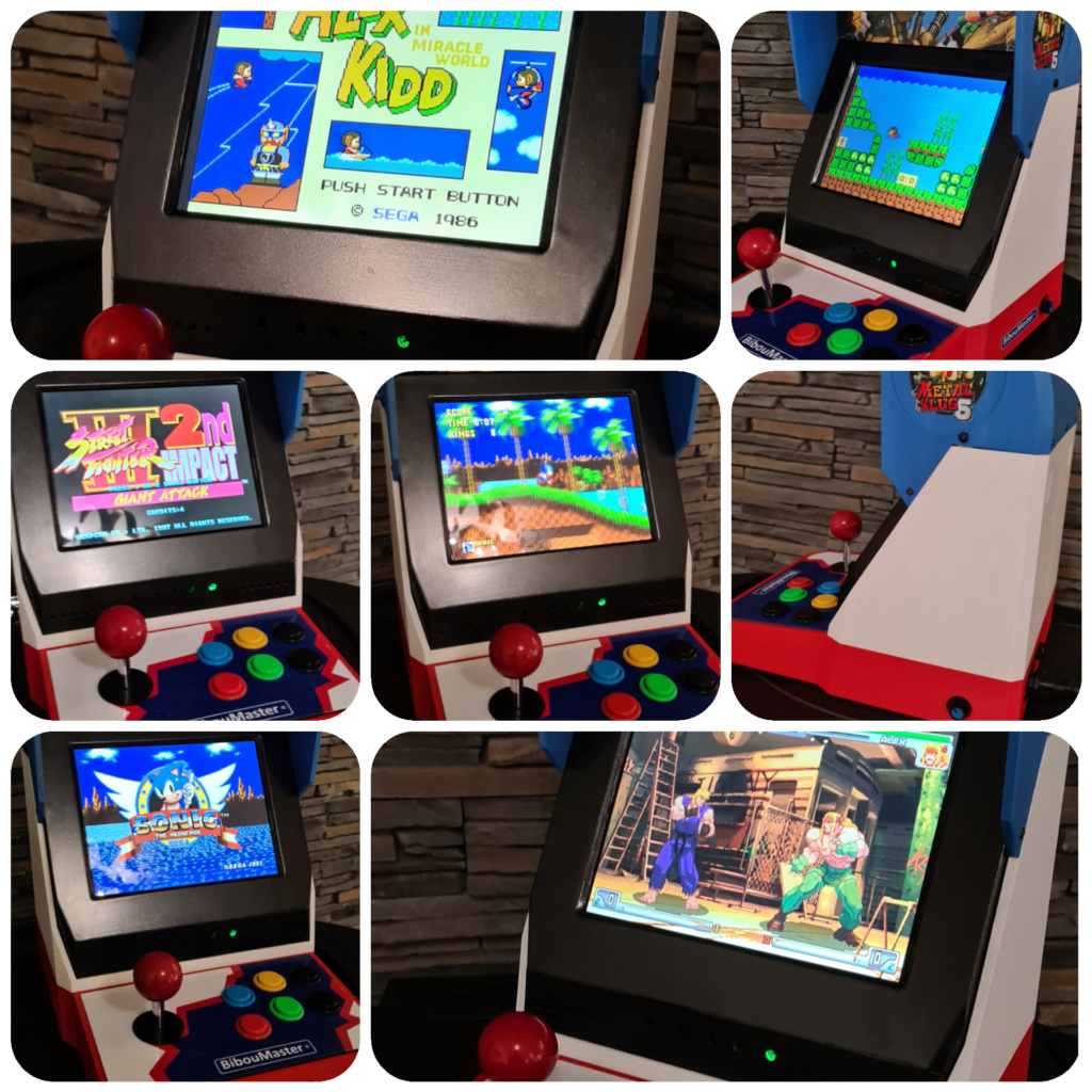 [VENDS] Mini Bartop Raspberry pi original design neo geo écran 4/3    8 pouces Incoll11