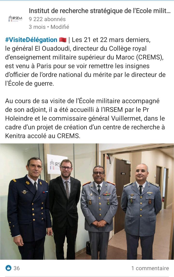 Collège Royal de l'Enseignement Militaire Supérieur(CREMS) - Page 3 20190710