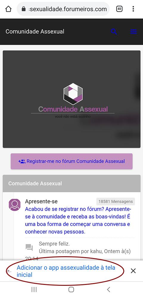 Acessar o fórum pelo celular Screen11