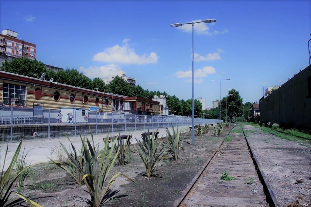 San Miguel: Construyen el nuevo paseo en el viejo andén de la Estación 001114