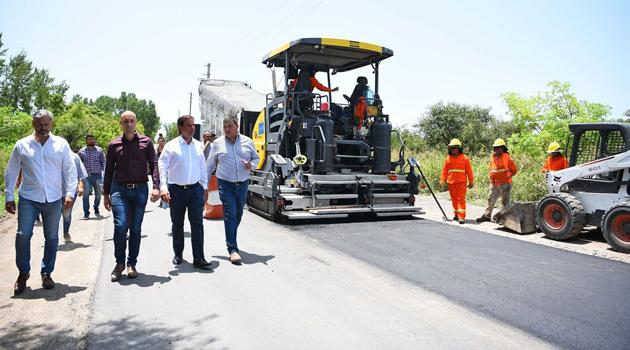 Escobar: El Intendente recorrió los trabajos en la ruta 25 001117