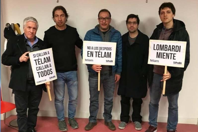 El senador Luis Vivona se solidarizó con los trabajadores despedidos de Télam 00116