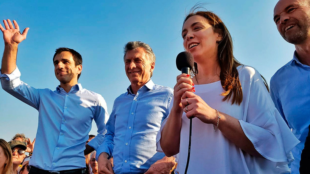 """hace - En Junín, Macri junto a Vidal: """"Estamos mucho mejor parados que hace cuatro años"""". _jcc5913"""
