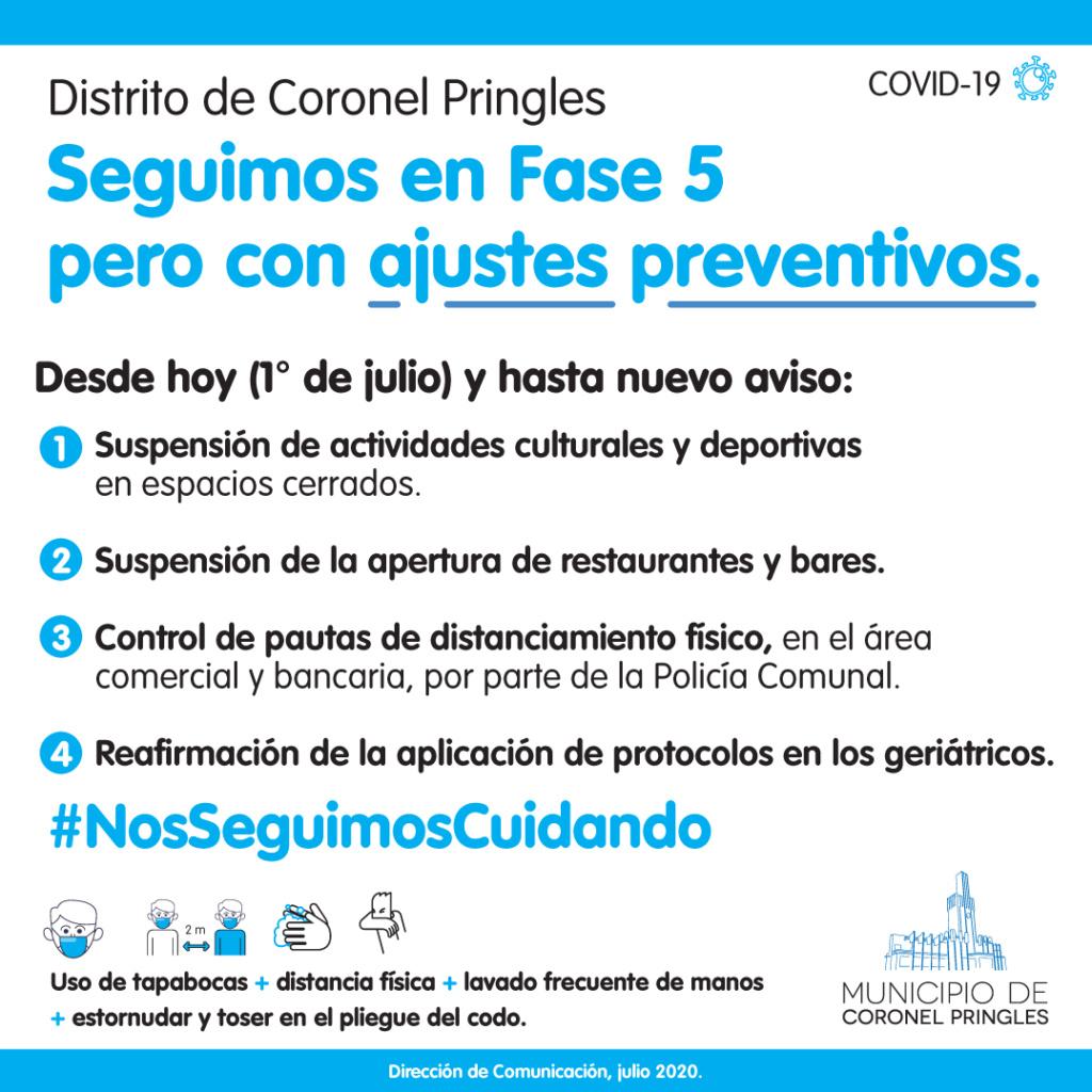 Primer caso positivo de COVID-19 en Coronel Pringles. Ajuste10