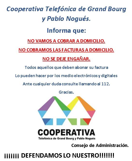 bourg - Cooperativa Telefónica de Grand Bourg y Pablo Nogues. Alerta11