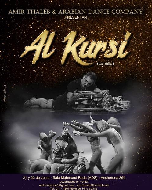 """21 y 22 de junio... llega """"Al Kursí"""" (La silla), la creación de Amir Thaleb. No te lo podes perder. Aviso102"""