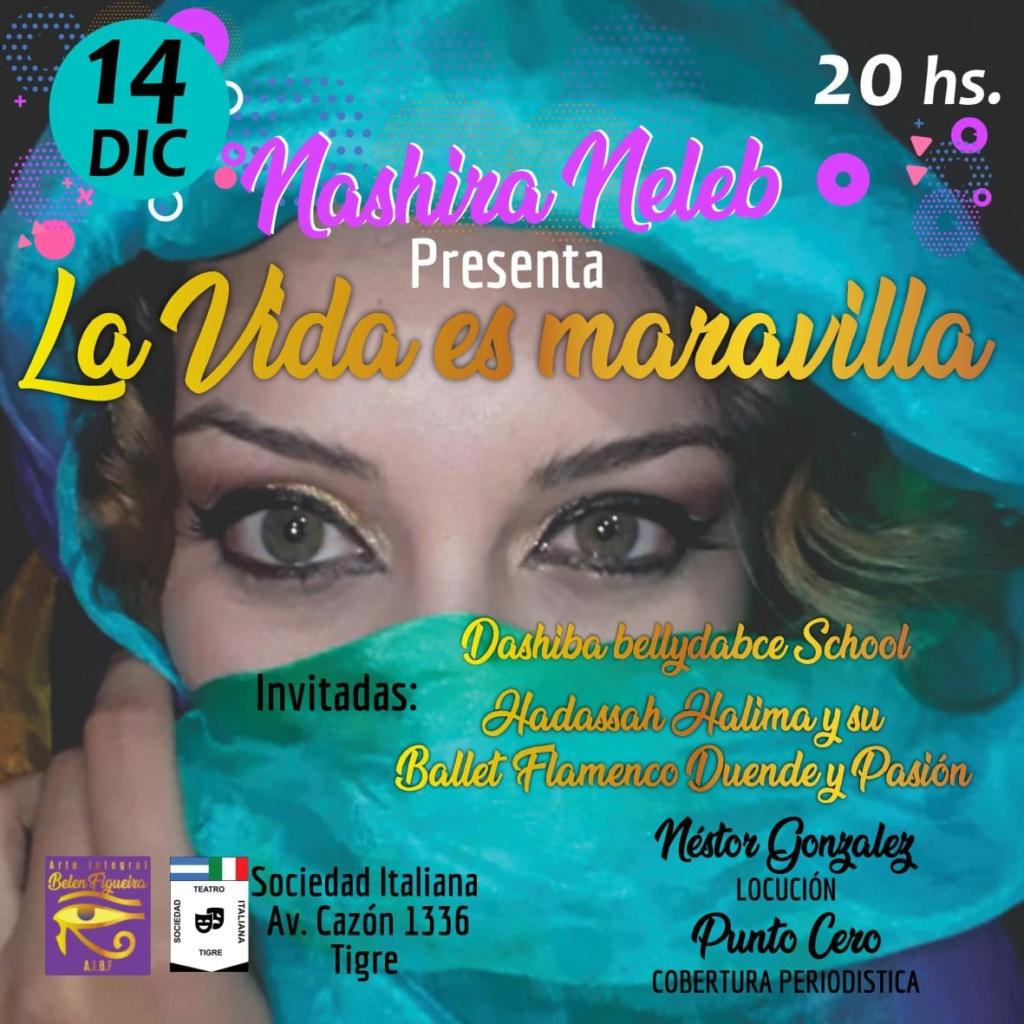 """Nashira Neleb recargada: """"La vida es Maravilla""""... imperdible. Aviso170"""