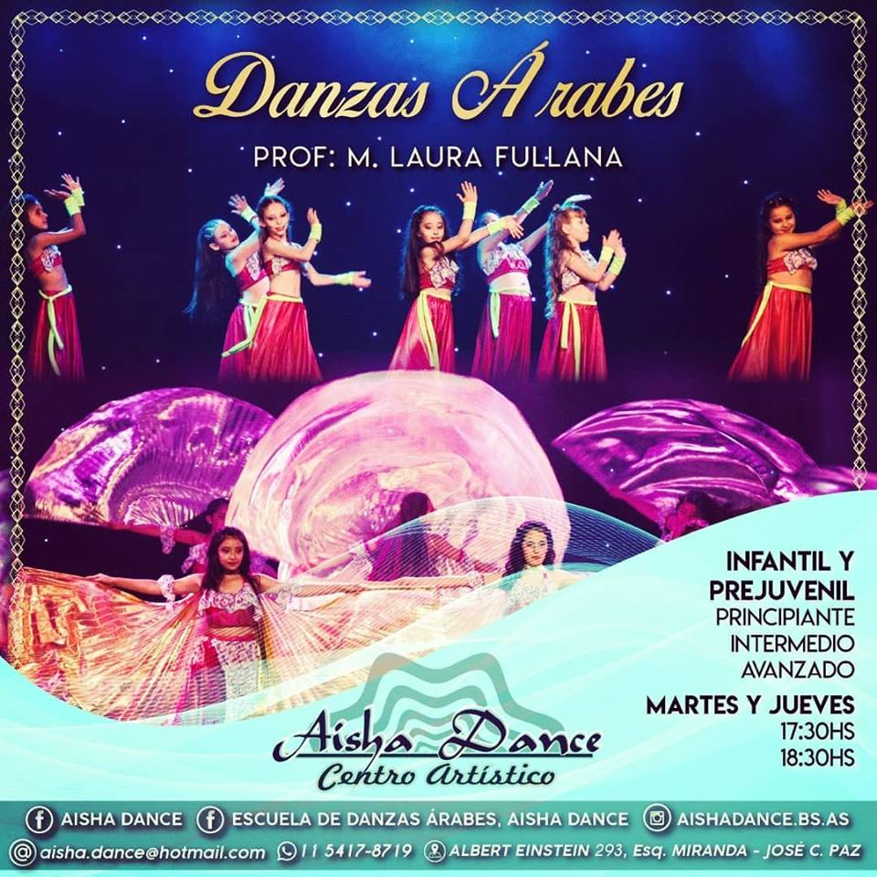 En José C. Paz: Centro artístico Aisha Dance. Aviso_14
