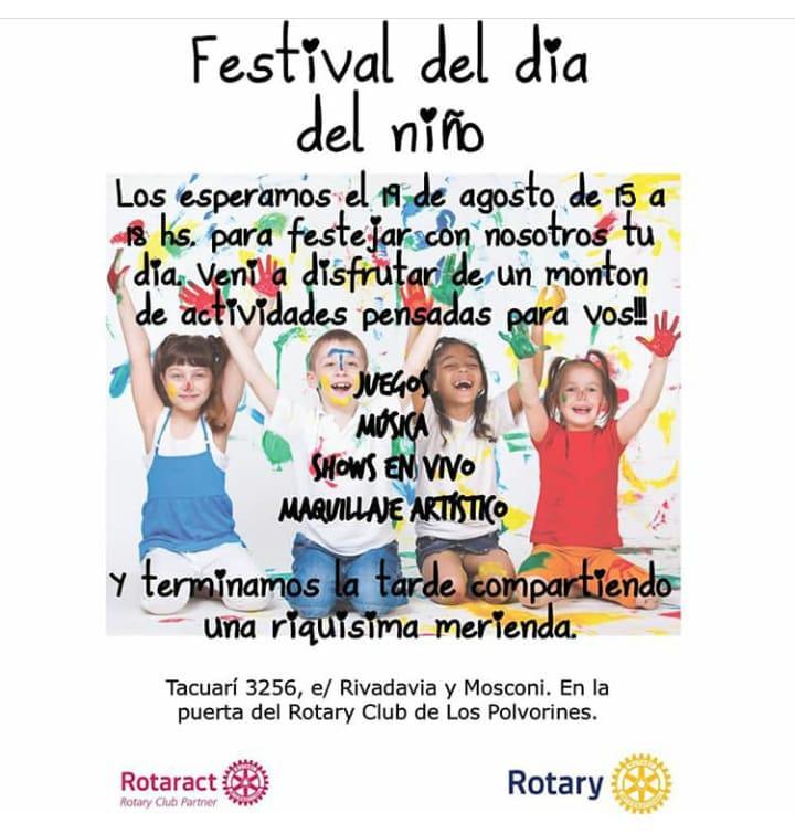 Malvinas Argentinas: Rotary y el Día del Niño. Aviso_33