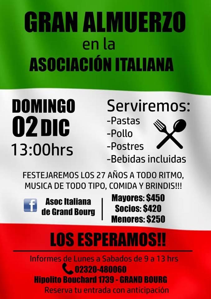 bourg - Aniversario de la Asociación Italiana de Grand Bourg. Aviso_52