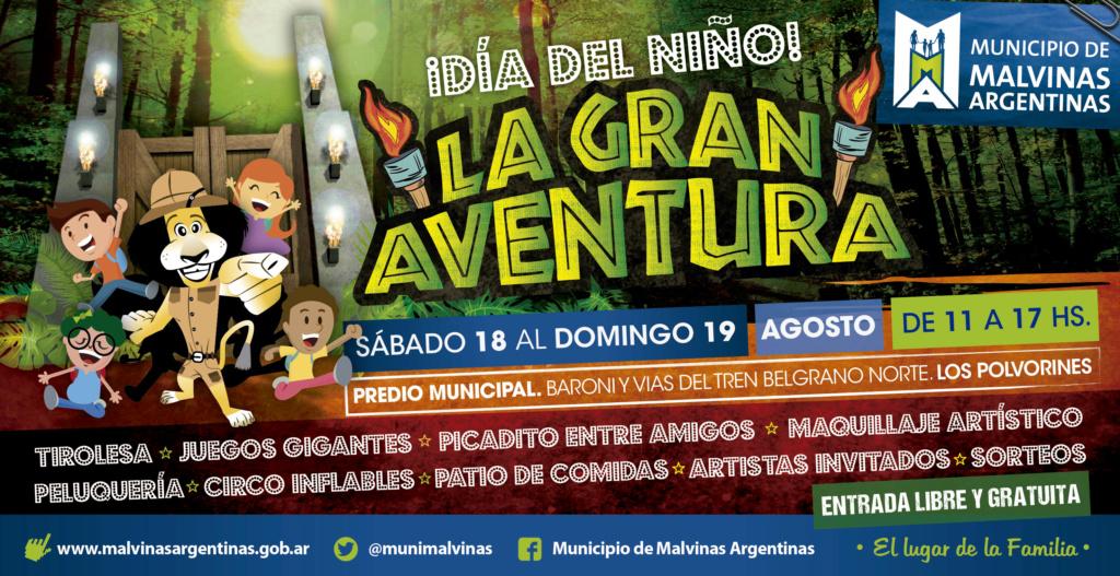 La gran aventura del Día del Niño en Malvinas Argentinas Banner10