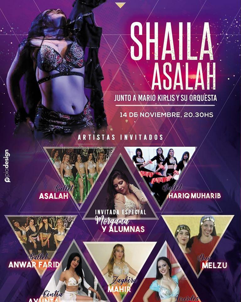 El jueves, Shaila Asaláh y la orquesta de Mario Kirlis. Dag_en10