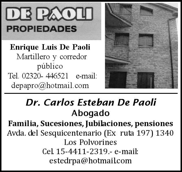 En Malvinas Argentinas, siempre De Paoli Propiedades. De_pao10