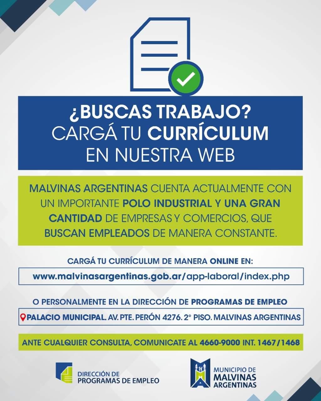 Malvinas Argentinas cuenta con una Oficina de Empleos abierta a búsquedas laborales Fb_img16
